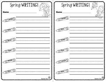 Writing Center Activities 2nd Grade 1st Grade Kindergarten