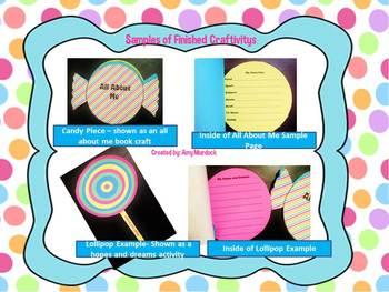 A Sweet School Year! Back to School Craftivity (Bulletin Board Display)