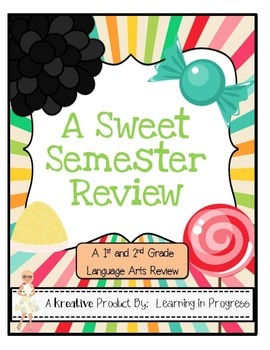 A Sweet Semester Review - Language Arts Assessment for the Common Core