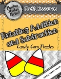 Relating Addition and Subtraction:  Candy Corn Puzzles