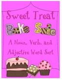 A Sweet Treat Noun, Adjective & Verb Word Sort