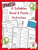 Read and Paste: Decoding A Syllables (Spanish)