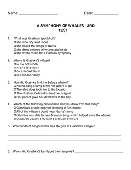 """A Symphony of Whales"" Test"