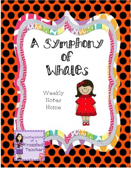 A Symphony of Whales Weekly Take Home Letters (Scott Foresman Reading Street)