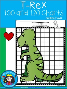 A+ T-Rex Dinosaur: Numbers 100 and 120 Chart