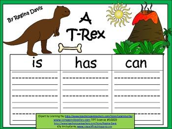 A+  T-Rex or Tyrannosaurus Rex ... Three Graphic Organizers