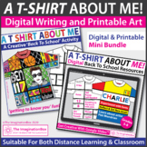 All About Me T Shirt Art and Writing | Digital and Printab