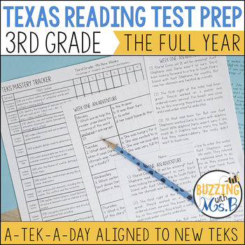 A TEK-a-Day Third Grade Reading Test Prep & Review: The Growing Bundle