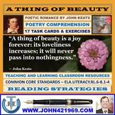 A THING OF BEAUTY BY JOHN KEATS - WORKSHEETS WITH ANSWERS