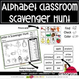 A TO Z LETTER CLASSROOM SCAVENGER HUNT
