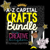 A TO Z Upper Case Capital Consonant & Vowel Alphabet Letter Craft Bundle