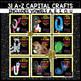 A TO Z Upper Case Capital Consonant & Vowel Alphabet Letter Craft Bundle