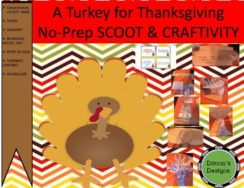 A TURKEY FOR THANKSGIVING SCOOT AND CRAFTIVITY