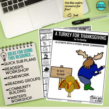 A TURKEY FOR THANKSGIVING read aloud lessons