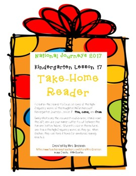 A Take-Home Reader for Journeys Lesson 17