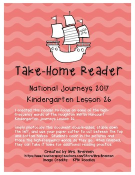 A Take-Home Reader for National Journeys ELA Kindergarten Lesson 26
