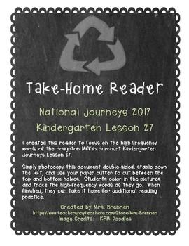 A Take-Home Reader for National Journeys ELA Kindergarten Lesson 27