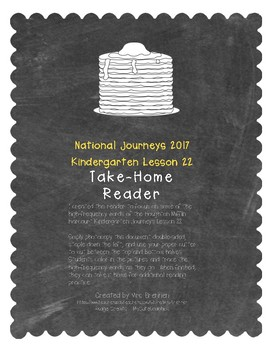 A Take-Home Reader for National Journeys Lesson 22