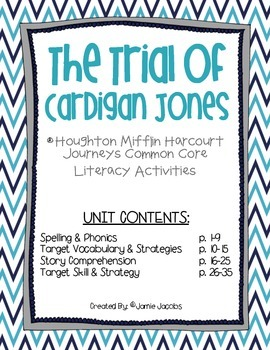 The Trial of Cardigan Jones (3rd Grade Journeys Supplemental Materials)