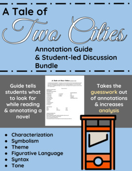 A Tale of Two Cities Annotation Guide and Student-led Discussion Bundle
