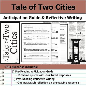 A Tale of Two Cities - Anticipation Guide & Written Reflection