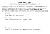 A Tale of Two Cities: Book Two, Sections 1-3 Courtroom Guide