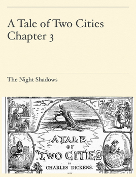 A Tale of Two Cities: Chapter 3 With Comprehension Questions