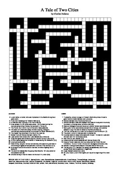 A Tale of Two Cities - Crossword Puzzle