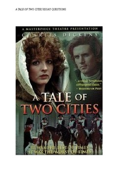 A Tale of Two Cities Essays for Honors and AP Students