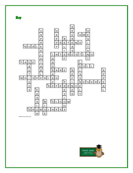 A Tale of Two Cities: Synonym/Antonym Crossword—Use with Bookmarks Plus!