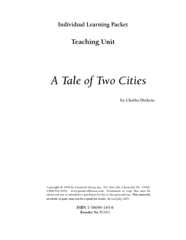A Tale of Two Cities Teaching Unit