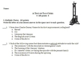 A Tale of Two Cities Test - Charles Dickens