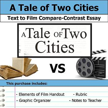 A Tale of Two Cities - Text to Film - Compare and Contrast Essay Bundle