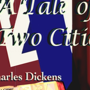A Tale of Two Cities image and text poster