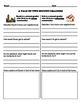 A Tale of Two Elementary School Students - Communities Writing Assignment