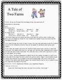 A Tale of Two Farms - Readers' Theater Play - early reader