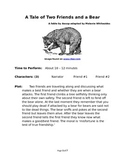 A Tale of Two Friends and a Bear - Small Group Reader's Theater by Aesop