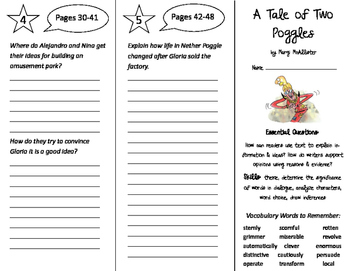 A Tale of Two Poggles Trifold - ReadyGen 2016 4th Grade Un