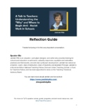 A Talk to Teachers: Reflection Guide