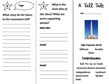 A Tall Tale Trifold - Treasures 2nd Grade Unit 2 Week 3