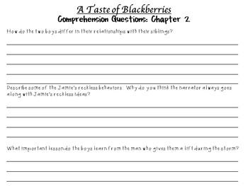 A Taste of Blackberries by Doris Buchanan Smith: A Complete Novel Study!
