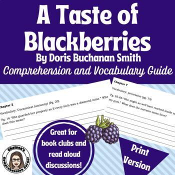 A Taste of Blackberries by Doris Buchanan Smith (Comprehension Guide)