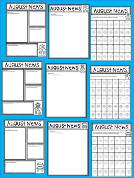 A+ Teacher News and Notes For Parents..Editable Papers:AUGUST