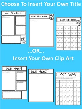 A+ Teacher News and Notes For Parents..Editable Papers: MAY
