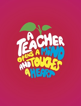 A Teacher Opens a Mind Digital Print Pink Background