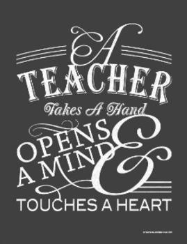 A Teacher Takes a Hand {Silhouette Cut File}