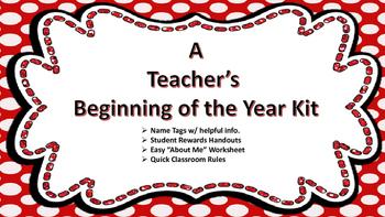 A Teacher's Beginning of the Year Kit