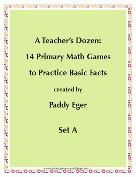 A Teacher's Dozen: 14 Primary Math Games to Practice Basic Math Facts