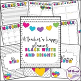 A Teacher's Happy Planner Black, White, and Brights