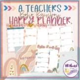 A Teacher's Happy Planner Boho Rainbow